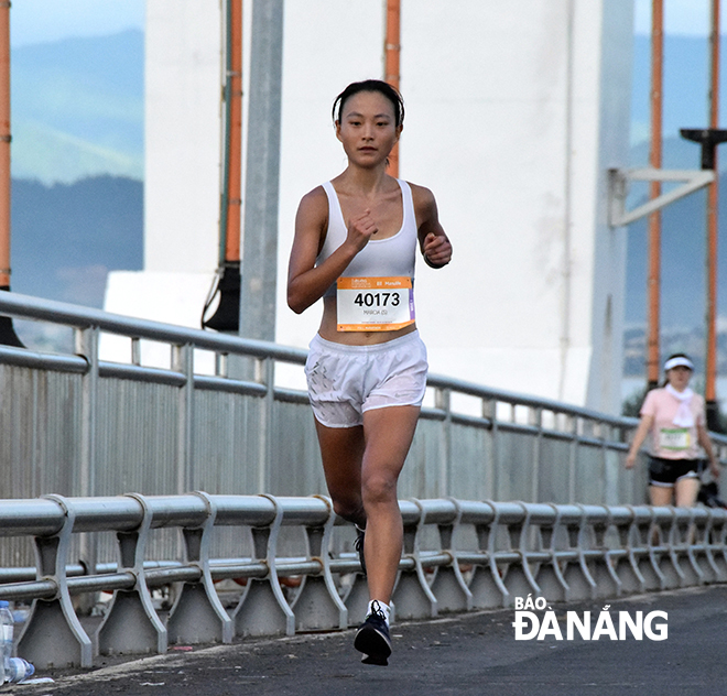 Hong Kong-American Marcia Zhou finished first in the full marathon for women