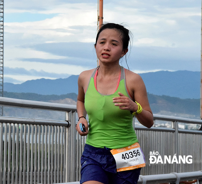 Nguyen Thi Duong was named the fastest female runner
