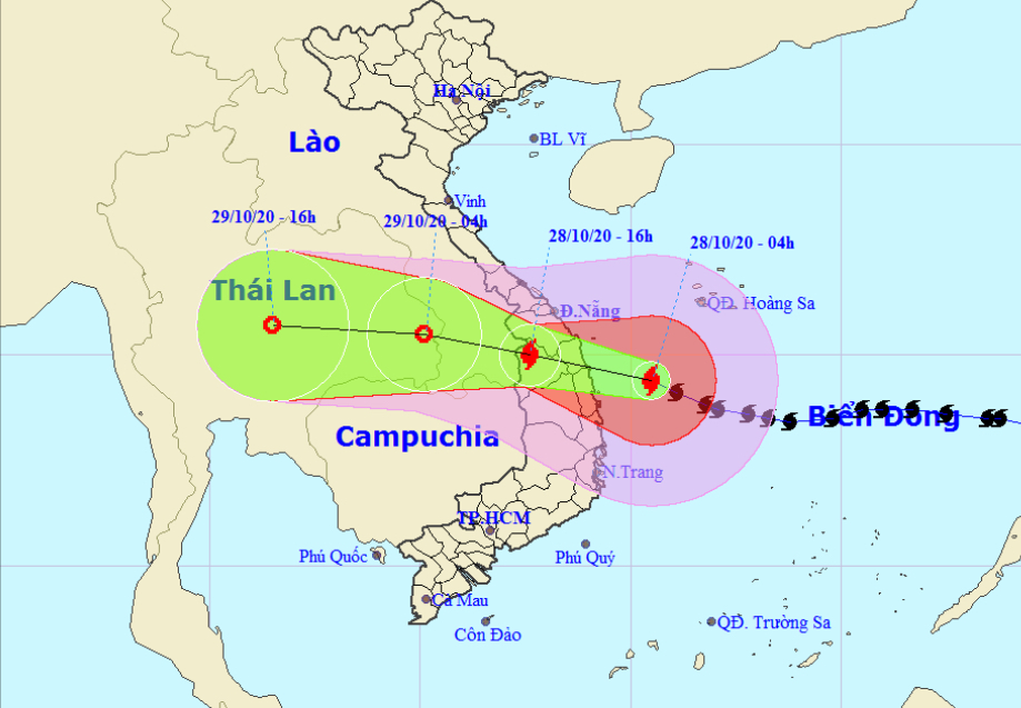 Typhoon Molave expected to hit Quang Nam – Binh Dinh by Wednesday noon