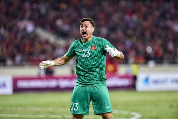 Goalkeeper Dang Van Lam is said to have signed a deal with J1 League side Cezero Osaka. (Photo: laodong.com)